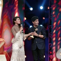 Jacqueline Fernandes and Manish Malhotra at AIBA Awards