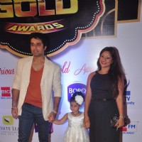 Shakti Anand and Sai Deodhar With Their Kid at Gold Awards