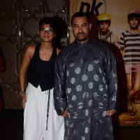 Aamir Khan and Kiran Rao at Success Bash of PK