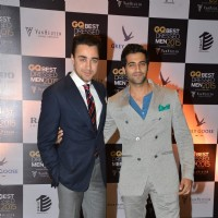 Imran Khan and Akshay Oberoi pose for the media at GQ India Best-Dressed Men in India 2015