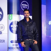 'The Hunk' Arjun Rampal at Launch of NIVEA MEN Body Deodorizer