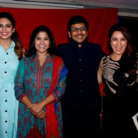 Huma Qureshi, Renuka Shahane and Tisca Chopra at Music Launch of Marathi Movie 'Highway'