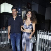 Kangana Ranaut and Manish Malhotra were Snapped Outside Hakassan