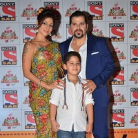 Bakhtiyaar Irani and Tanaaz Currim Irani pose for the media at SAB Ke Anokhe Awards