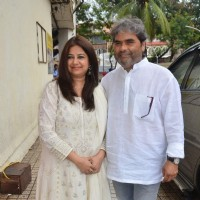 Vishal Bharadwaj and Rekha Bharadwaj at the Press Conference of Drishyam