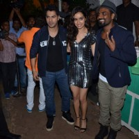 Varun, Shraddha and Remo Pose for Media at Success Bash of ABCD 2
