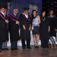 Esha Deol, Neeta Lulla, Subhash Ghai at Whistling Woods Convocation