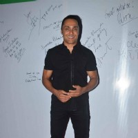 Rahul Bose poses for the media at the Pro Kabaddi Match