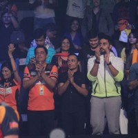 Celebs cheer for their team at the Pro Kabaddi Match