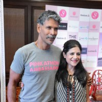 Milind Soman at Pinkathon Press Meet