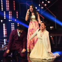 Sonakshi, Asha and Hussain on the Sets of Indian Idol Junior Season 2