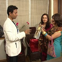 Radhika and Dolly with Irfan Khan