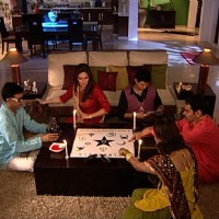 All cast playing game