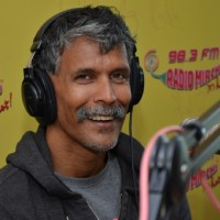 Milind Soman at an interaction at Radio Mirchi