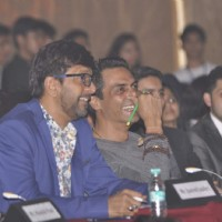 Javed Jaffery and Arjun Rampal at Jamnabai Narsee Alumni Association's Cascade Meet