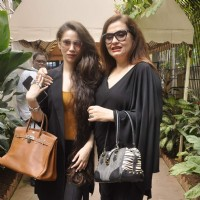 Salma Agha With Daughter Sasha Agha Pose at a  Press Meet