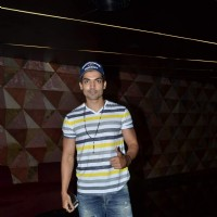Gurmeet Choudhary poses for the media at the Special Screening of Angrej