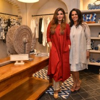 Raveena Tandon and Anita Dongre at Grass Root Store Launch