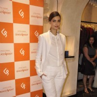 Diana Penty poses for the media at Anita Dongre's Grass Root Store Launch