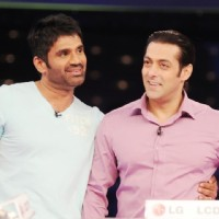 Salman Khan with sunil shetty