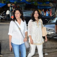 Arzoo and Aditi Gowitrikar at Prayer Meet of Shraddha Kapoor's Grandfather
