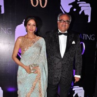 Sridevi and Boney Kapoor at Chiranjeevi's 60th Birthday Celebrations