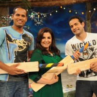 Farah Khan with Irfan and Yousuf Pathan