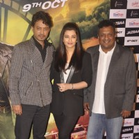 Irrfan Khan, Aishwarya Rai Bachchan and Sanjay Gupta at Trailer launch of Jazbaa