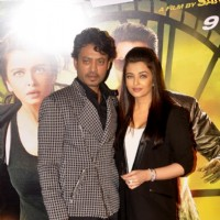 Irrfan Khan and Aishwarya Rai Bachchan at Trailer launch of Jazbaa