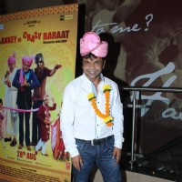 Rajpal Yadav at Screening of Baankey Ki Crazy Baraat