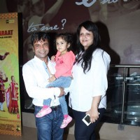 Rajpal Yadav With Family at Screening of Baankey Ki Crazy Baraat