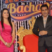 Anita Hassanandani and Mubeen at Launch of 'Comedy Nights Bachao'