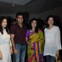 Aditi and Arzoo Govitrikar, Ashutosh Rana and Renuka Shahane at Premiere of Marathi Movie 'Highway'