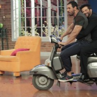 John Abraham and Anil Kapoor snapped on Comedy Nights with Kapil to promote Welcome Back