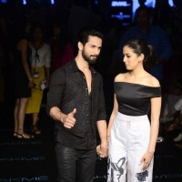 Shahid Kapoor and Mira Rajput at Lakme Fashion Week Day 4