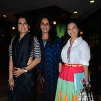 Mini Mathur, Anita Dongre and Maria Goretti at Fashion's Night Out by Vogue India