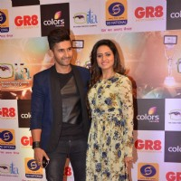 Ravi Dubey and Sargun Mehta at GR8 ITA Awards