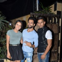 Asha Negi, Rithvik Dhanjani and Ravi Dubey at Sargun Mehta's Birthday Bash
