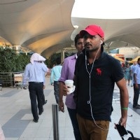 Harbhajan Singh Snapped at Airport