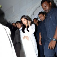 Aishwarya Rai Bachchan at Aadesh Shrivastava's Prayer Meet