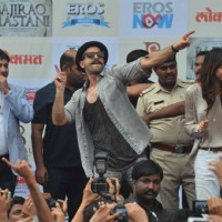 Ranveer and Deepika Dances with Sukhwinder Sing at 'Gajanana' Song Launch of Bajirao Mastani