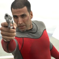 Akshay Kumar firing with his rifle | Blue Photo Gallery