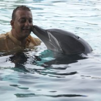 Sanjay Dutt with a Dolphin