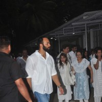Rohit Shetty at Funeral of Karim Morani's Mother