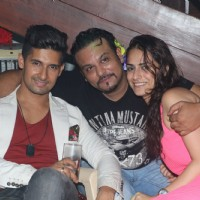 Ravi Dubey, Rahul Tewary and Karishma Irani at Siddharth Kumar Tewary's Birthday Bash