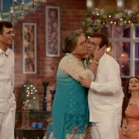 Dadi was snapped kissing Mustan Burmawalla on Comedy Nights With Kapil