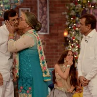 Dadi was snapped kissing Abbas Burmawalla on Comedy Nights With Kapil