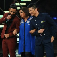 Rahul Vaidya, Farah Khan and Meiyang Chang at Celebration of Indian Idol 10 Years Journey