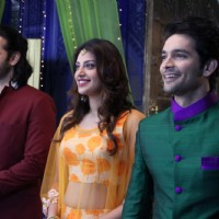Karan V Grover, Anushka Ranjan and Diganth Promotes Wedding Pullav on Yeh Rishta Kya Kehlata Hai