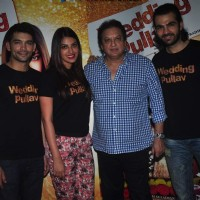 Anushka Ranjan, Diganth and Karan V Grover at Promotions of Wedding Pullav